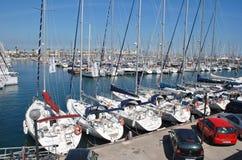 Port Olimpic marina, Barcelona royalty free stock image
