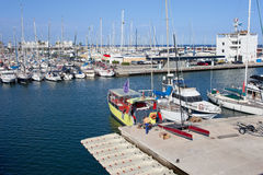 Port Olimpic Marina in Barcelona Royalty Free Stock Photo