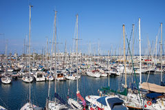 Port Olimpic Marina in Barcelona Stock Image