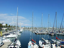 Port Olympic at Barcelona. Boats at the Port Olympic at Barcelona, Spain Royalty Free Stock Photography