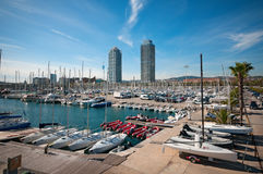 Port Olympic in Barcelona - Spain Royalty Free Stock Photography