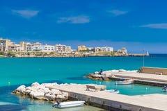 Port of Otranto town, Salento peninsula, Puglia region, Italy Stock Photo