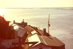 Port ou une usine Image libre de droits