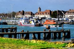 Port of Ouistreham in France royalty free stock photos