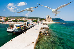 Port Ouranoupolis, Mount Athos, Greece Stock Images
