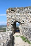 Port på den Beckov slotten arkivbild