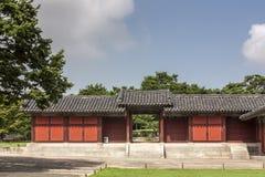 Port på den Changgyeong slotten - Seoul, Sydkorea Royaltyfri Foto