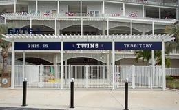 Port 1 på Hammond Stadium i Fort Myers, Florida Arkivbild