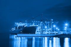 Port på natten Royaltyfri Fotografi