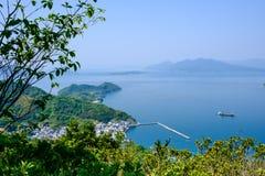 Port på Ninoshima på det inlands- havet nära Hiroshima, Japan Fotografering för Bildbyråer