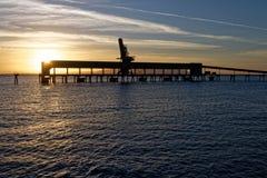 Port på soluppgång 02 royaltyfri fotografi