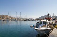 Port of Parikia,  Paros island , Greece Royalty Free Stock Image