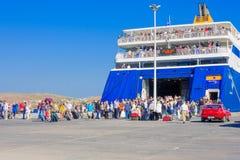 Port of Paros Royalty Free Stock Image