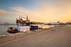 Port in Patras. Royalty Free Stock Image