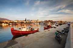 Port in Patras. Royalty Free Stock Photo