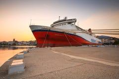 Port in Patras. Stock Photo