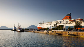 Port in Patras. Stock Images