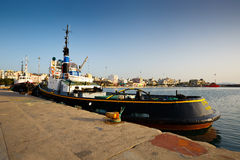 Port in Patras. Royalty Free Stock Image