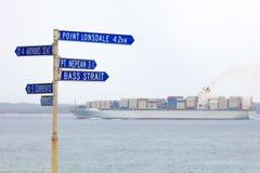 Port Philip Bay Shipping royalty free stock image