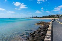 Port Phillip Bay e la riviera in Frankston, Melbourne Fotografia Stock