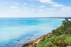 Port Phillip Bay e la riviera in Frankston, Melbourne Fotografia Stock Libera da Diritti