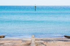 Port Phillip Bay e la riviera in Frankston, Melbourne Immagine Stock Libera da Diritti