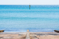 Port Phillip Bay and foreshore in Frankston, Melbourne royalty free stock image