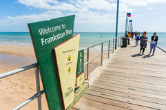 Port Phillip Bay and foreshore in Frankston, Melbourne Stock Photography