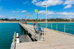 Port Phillip Bay and foreshore in Frankston, Melbourne Stock Photo