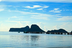 Port and pier in thailand. Landscape of port and pier in thailand Stock Photos