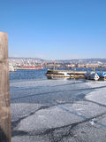 Port or pier in winter Stock Photography