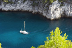 Port Pin calanque. France Royalty Free Stock Images