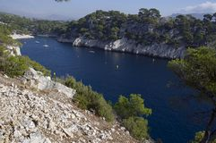 Port Pin calanque. France Stock Image