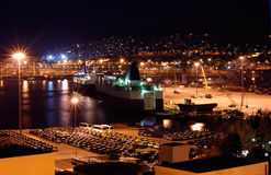 The port of Piraeus stock photo
