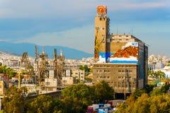 Port in Piraeus Greece. Stock Photo