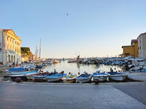 Port of Piran with boats, Slovenia Stock Photography