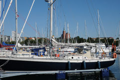 Port pittoresque de Nynashamn Images stock