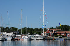 Port pittoresque de Nynashamn Photographie stock libre de droits