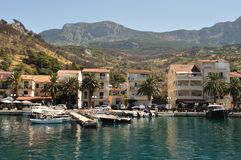 Port of Podgora with ships. Croatia Royalty Free Stock Images
