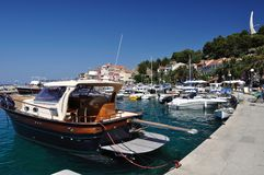 Port of Podgora with ships. Croatia Stock Image