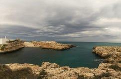 Port polignano a mare panorama bay Stock Photography
