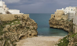 polignano a mare panorama bay lama molechine royalty free stock photos