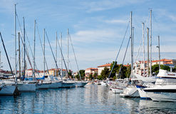 Port in Porec, Croatia Stock Images