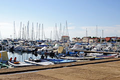 Port in Porec, Croatia Royalty Free Stock Photography
