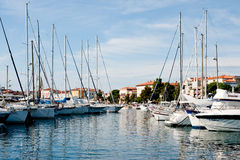 Port in Porec, Croatia Stock Image