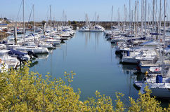 Port of Pornichet in France royalty free stock images