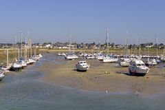 Port of Port-bail in France Royalty Free Stock Photography