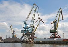 Port. Portal cranes Royalty Free Stock Image