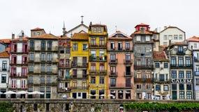 Port porto builidings. Buildings in port porto color Royalty Free Stock Image