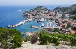 Port in Porto Santo Stefano Stock Images